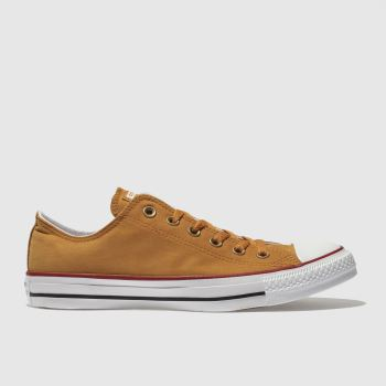 Converse Yellow Chuck Taylor Peach Canvas Ox Mens Trainers
