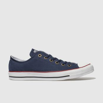Converse Navy All Star Peach Canvas Ox Mens Trainers from Schuh