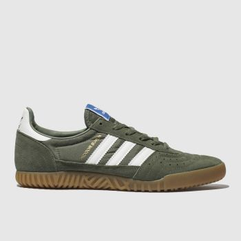Adidas Khaki Indoor Super c2namevalue::Mens Trainers