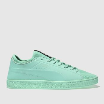 Puma Turquoise Basket Sock Lo Mens Trainers