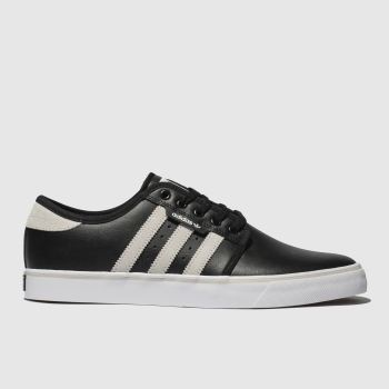 bc1bca5e5368a9 Adidas Skateboarding Black   White Seeley Mens Trainers