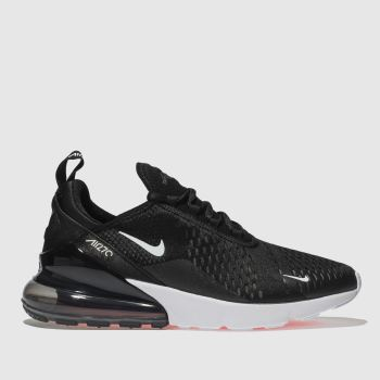 NIKE BLACK AIR MAX 270 TRAINERS