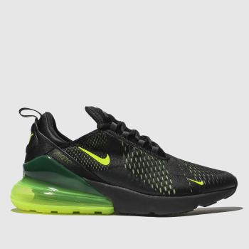 Nike Black & Green Air Max 270 Mens Trainers