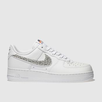 Nike White Air Force 1 07 Lv8 Jdi Mens Trainers