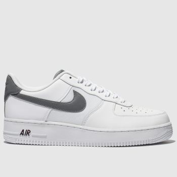 80831a476ea54e Nike White   grey Air Force 1 07 Lv8 Mens Trainers