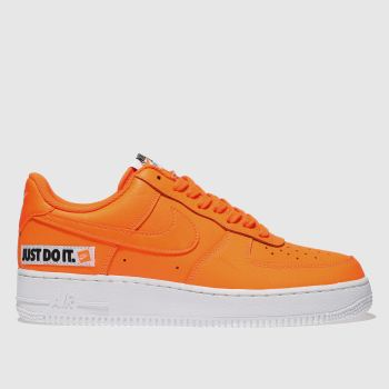 Nike Orange Air Force 1 07 Lv8 Mens Trainers