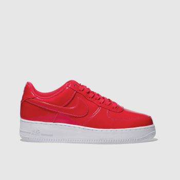 Nike Red Air Force 1 07 Lv8 Uv Mens Trainers
