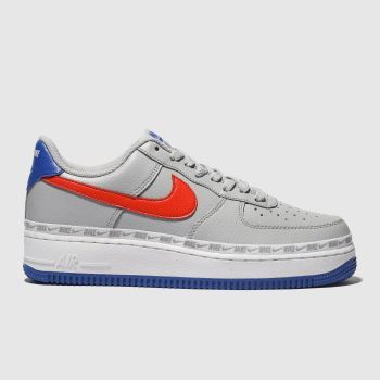competitive price 131bf ba57c Nike Light Grey Air Force 1 07 Lv8 Mens Trainers