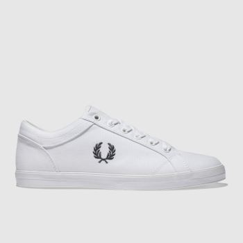 Fred Perry White Baseline Pique Mens Trainers