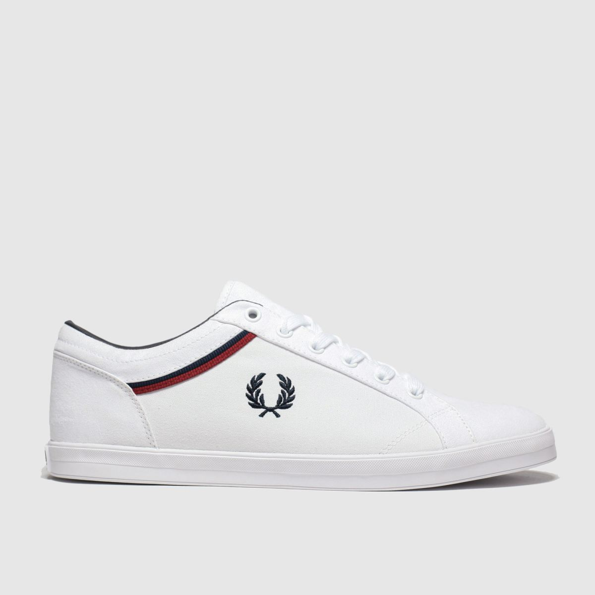Fred Perry White & Navy Baseline Trainers