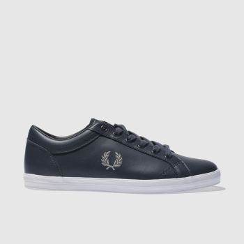 Fred Perry Navy Baseline Pique Mens Trainers
