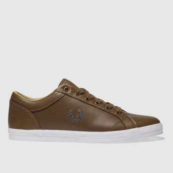 Fred Perry Tan Baseline Mens Trainers