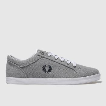 Fred Perry Grey Baseline Pique Mens Trainers