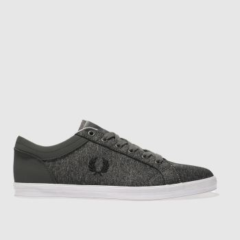 Fred Perry Grey Baseline Bonded Marl Mens Trainers