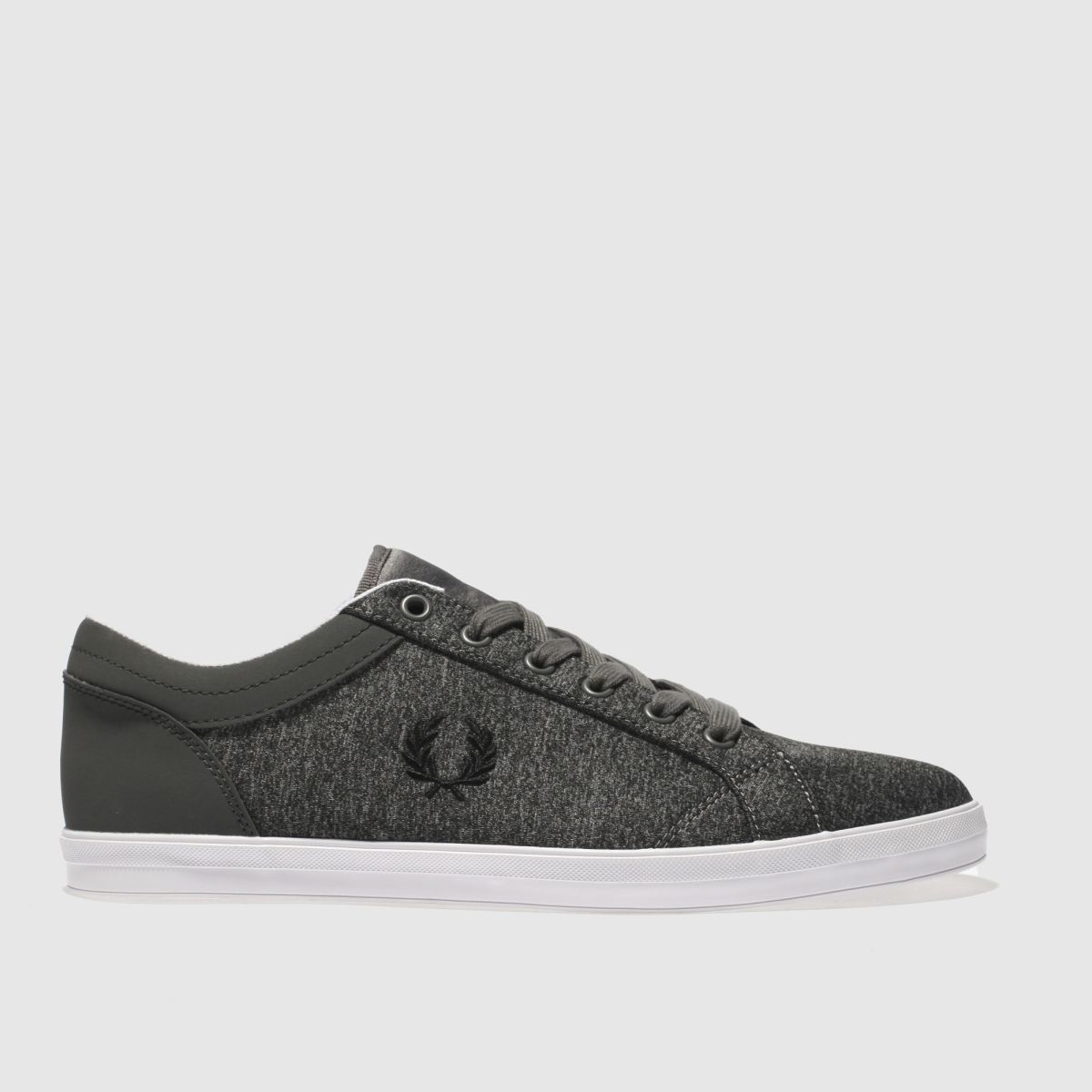 Fred Perry Grey Baseline Bonded Marl Trainers