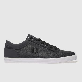 Fred Perry Dark Grey Baseline Bonded Mens Trainers