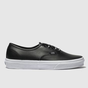 f665a54d33b518 Vans Black Authentic Webbing Mens Trainers
