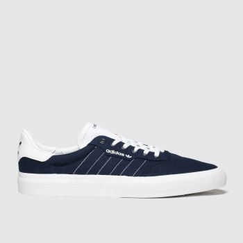 Adidas Skateboarding Navy & White 3mc Mens Trainers