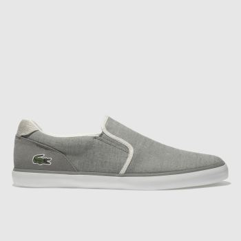 LACOSTE GREY JOUER SLIP ON TRAINERS