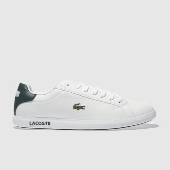 Lacoste White & Green Graduate Lcr3 Mens Trainers