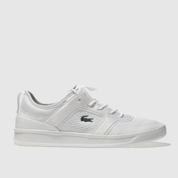Lacoste White Explorateur Light Mens Trainers