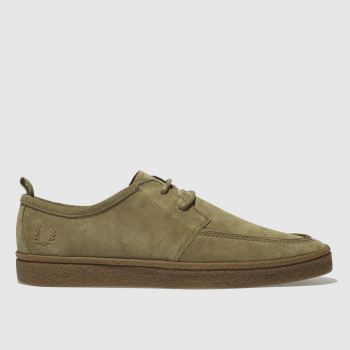 Fred Perry Tan Shields Suede Crepe Mens Shoes