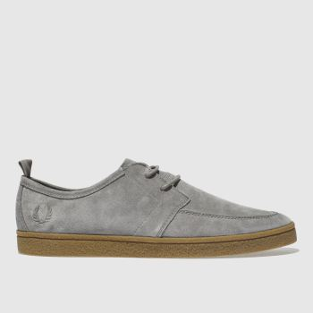 Fred Perry Grey Shields Suede Crepe Mens Trainers