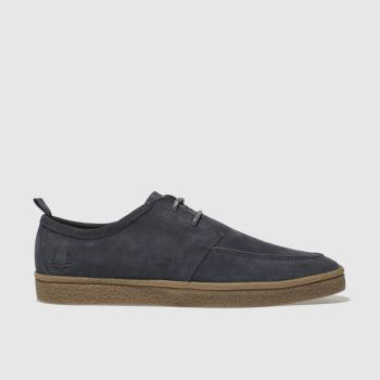Fred Perry Grey Shields Suede Crepe Mens Shoes