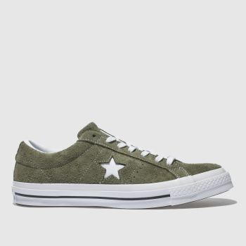 Converse Khaki One Star Ox Vintage Suede Mens Trainers