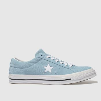 1e7bcf57b7af Converse Blue One Star Ox Vintage Suede Mens Trainers