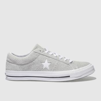 Converse Grey One Star Ox Vintage Suede Mens Trainers