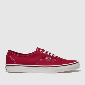 Vans Red Authentic Mens Trainers