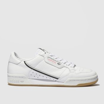 Adidas White & Pink Continental 80 X Tfl Mens Trainers