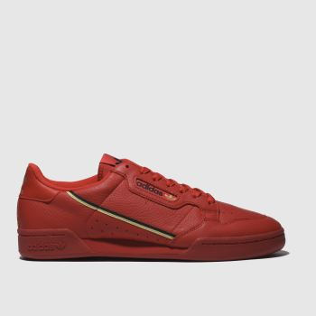 adidas red continental 80 trainers