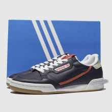 sale retailer 64519 d2ed8 adidas navy  orange continental 80 trainers