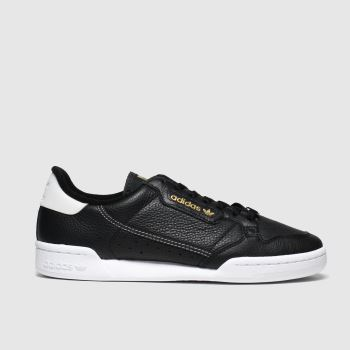 Adidas Black & Gold Continental 80 c2namevalue::Mens Trainers