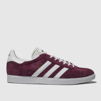 Adidas Burgundy Gazelle c2namevalue::Mens Trainers