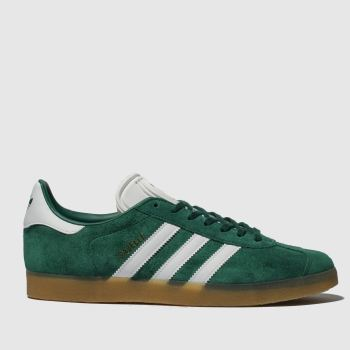 low priced 3d7ed 4a275 Adidas Dark Green Gazelle Mens Trainers