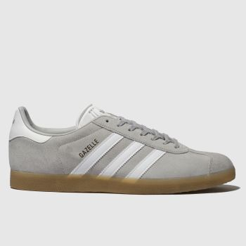 new arrival 9fb55 990af Adidas Light Grey Gazelle Mens Trainers