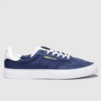 Adidas Skateboarding Navy & White 3mc c2namevalue::Mens Trainers