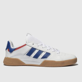 Adidas Skateboarding White & Navy Vrx Low Mens Trainers