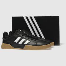 7c2cb50187a8fa mens black   white adidas skateboarding vrx low trainers