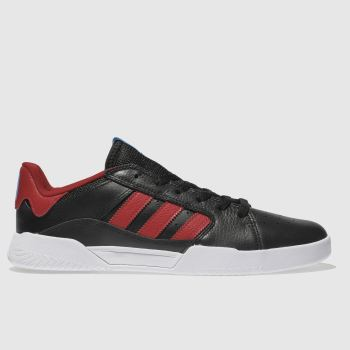 Adidas Skateboarding Black & Red Vrx Low Mens Trainers