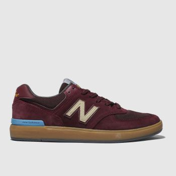 New Balance Burgundy ALL COASTS 574 Trainers
