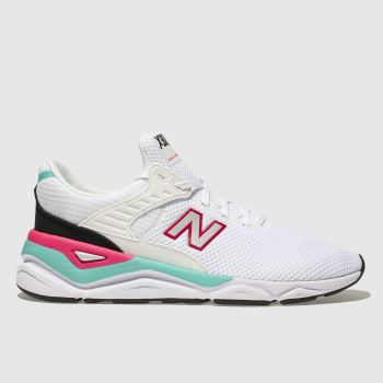 New Balance White & Pl Blue X-90 Mens Trainers