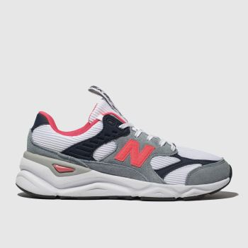 New Balance White & grey X90 Mens Trainers
