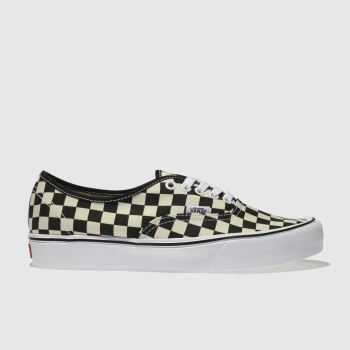 Vans White & Black Authentic Lite Mens Trainers