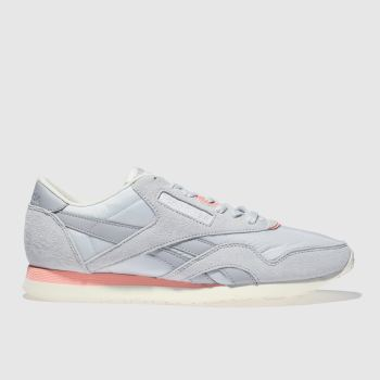 REEBOK LIGHT GREY CLASSIC NYLON RETRO TRAINERS