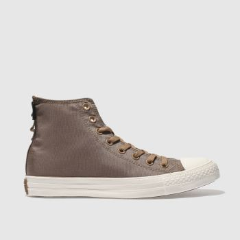 Converse Tan All Star Hi Cordura Mens Trainers