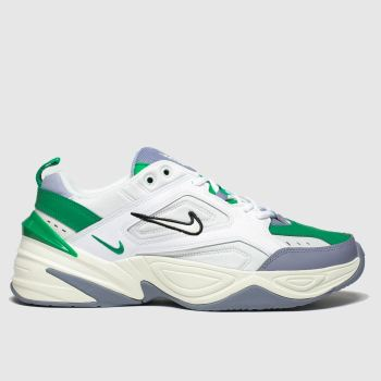 Nike White & Green M2k Tekno Mens Trainers